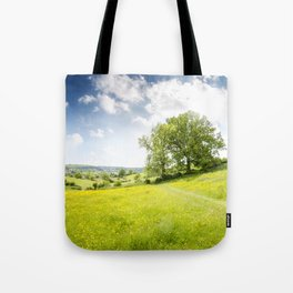 Idyllic Cotswold Summer Landscape Tote Bag