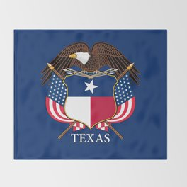 Texas flag and eagle crest - original concept and design by BruceStanfieldArtist Throw Blanket