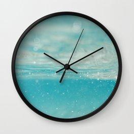 Under sea blue Wall Clock
