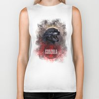 godzilla Biker Tanks featuring Godzilla by Denda Reloaded