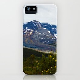 The Athabasca & Snow Dome Glaciers in Jasper National Park, Canada iPhone Case