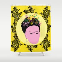 frida Shower Curtains featuring Frida by Emmanuelle Ly