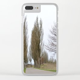 Road and trees 2 Clear iPhone Case