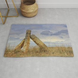 Kansas  Corner Stone Post Fence Rug