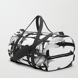 BLACK & WHITE DRAGONFLIES ON WHITE COLOR Duffle Bag