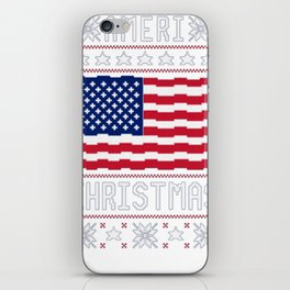 AMERI_ CHRISTMAS UGLY SWEATER T-SHIRT iPhone Skin