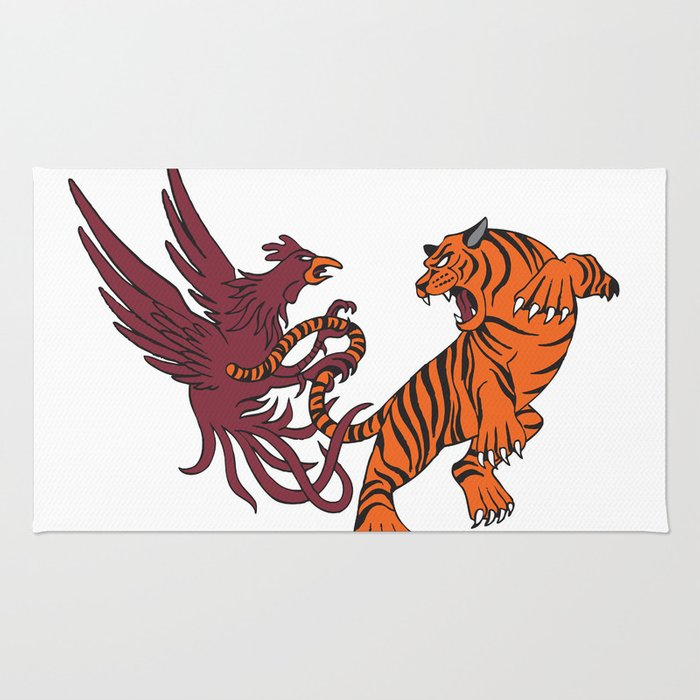 Cocks vs Tigers Rug