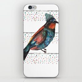 Birds and hats! iPhone Skin
