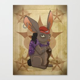 Bohemian Beast: Rabbit Canvas Print