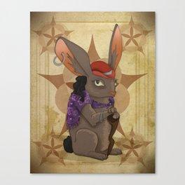 Bohemian Beast: Rabbit Canvas Print