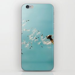 Dandelion Blowing in the Wind iPhone Skin