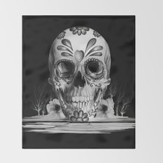 Pulled sugar, day of the dead skull Throw Blanket