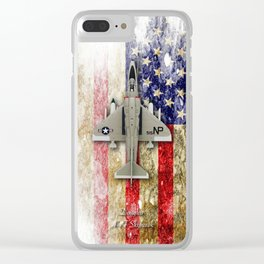 Douglas A-4F Skyhawk Clear iPhone Case