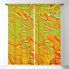 Bloody-Nature Abstract Blackout Curtain