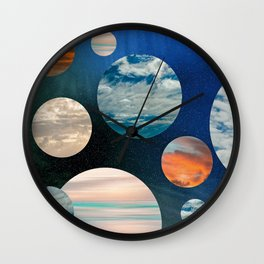 CLOUD COLLAGE Wall Clock