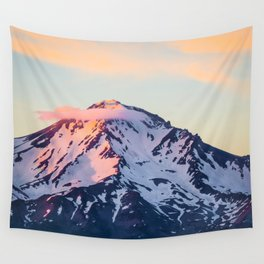 Mount Shasta Sunset Glow Wall Tapestry