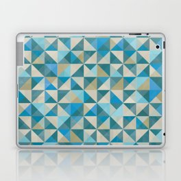 Blue Patchwork Quilt Laptop & iPad Skin