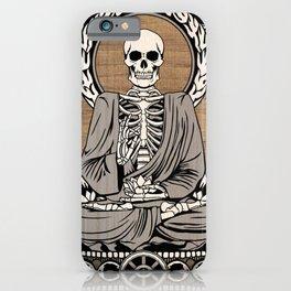 Starving Buddha - Wood Grain iPhone Case