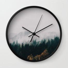 Forest Fog Wall Clock
