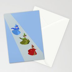 3 Fairies (Blue)  Stationery Cards