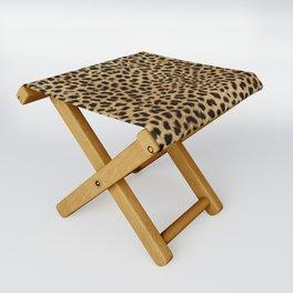 Cheetah Print Folding Stool
