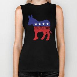 Massachusetts Democrat Donkey Biker Tank
