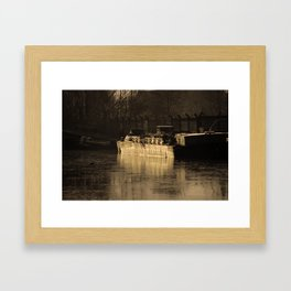 Working Barge Framed Art Print