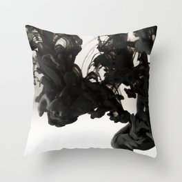 Ink #abstract #black Throw Pillow
