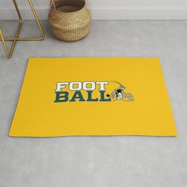 Football in Green and Yellow. Rug