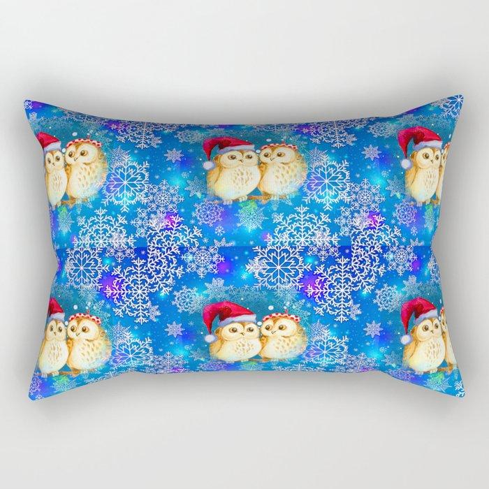 Snowflake Owls Rectangular Pillow