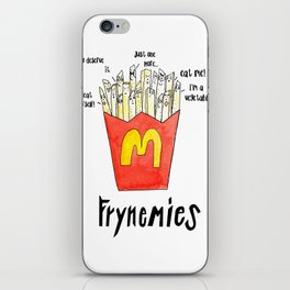 Frynemies, Frenemy, French Fries, Food Art, Funny Art, Illustration, Watercolor, Handlettering. iPhone Skin