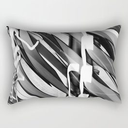 Light Dance Dark Stripes Rectangular Pillow