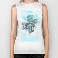chill Biker Tanks featuring Chill by Chip David