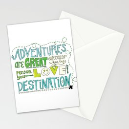 Adventures are Great Stationery Cards