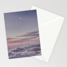 Sunset and Moon Rise Above the Clouds // Mount Haleakala, Maui Stationery Cards