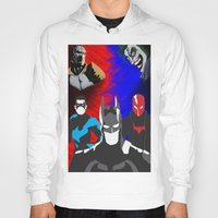 nightwing Hoodies featuring Nightwing, Red Hood by dudesweet