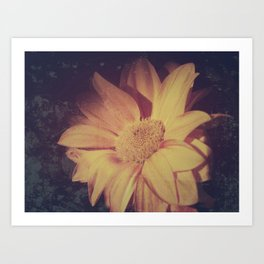 Abstract vintage flower Art Print