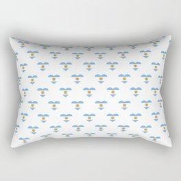 Argentina Love flagMotif Repeat Pattern design background  Rectangular Pillow