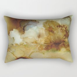 Alcohol Ink 'The Storybook Series: The Little Match Girl' Rectangular Pillow