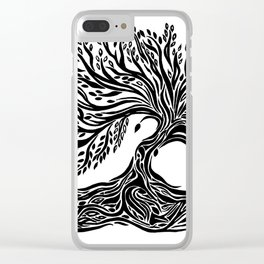 Roots and Leaves Clear iPhone Case
