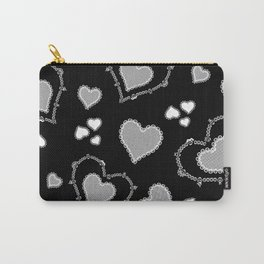 Skull Lace Design - Black Carry-All Pouch