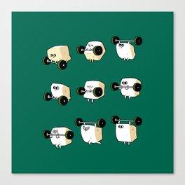 OLYMPIC LIFTING  Tofu Canvas Print