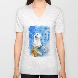 Polar Bear Inside Water Unisex V-Neck