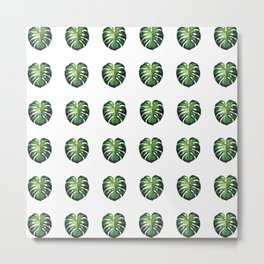Botanical Tropical Pattern Metal Print