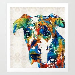 Colorful Great Dane Art Dog By Sharon Cummings Art Print