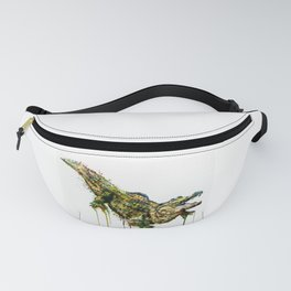 Alligator Watercolor Painting Fanny Pack