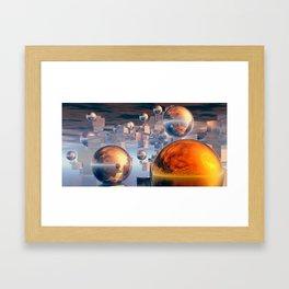 Splitting views Framed Art Print