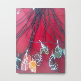 NECKLACES Metal Print