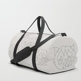 One Line Cat Duffle Bag