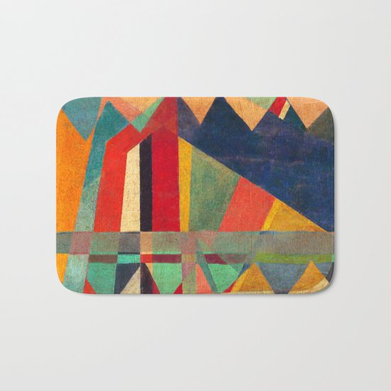 The Road, The Mountain and The River Bath Mat